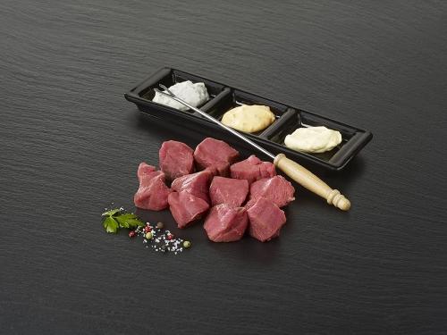 "Viande à fondue ""Rumsteck de boeuf"""
